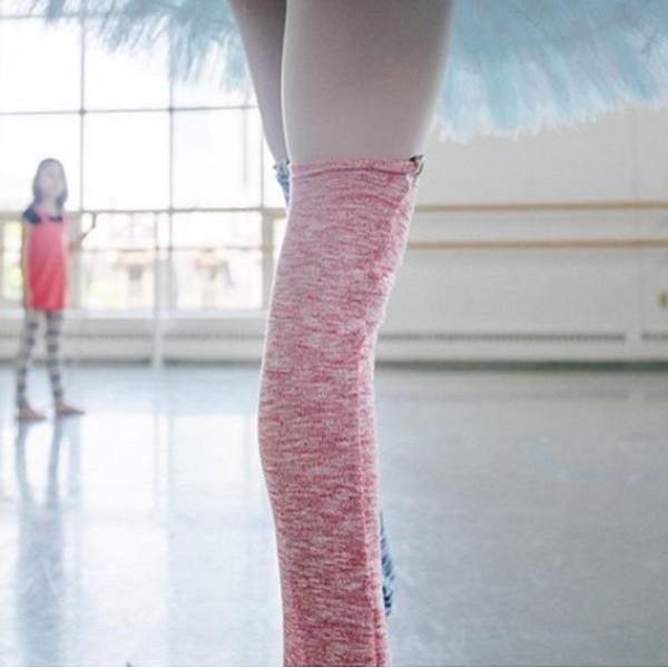 【Rubia Wear】バレエ レッグウォーマー RaspberrySherbet(ピンクミックス)  ショート丈 ルビアウェア