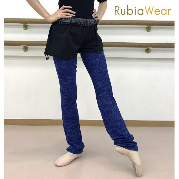 【Rubia Wear】フルレッグ XSサイズ バレエダンサーがデザインした超ロングレッグウォーマー SoftRoyal(ロイヤルブルー)