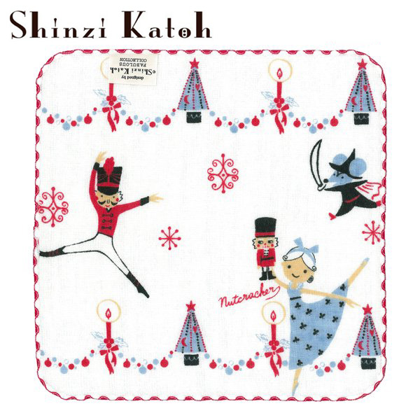 【 ShinziKatoh 】 可愛いハンカチタオル バレエ発表会のプレゼントに クリスマス ギフト 【くるみ割り人形】 日本製