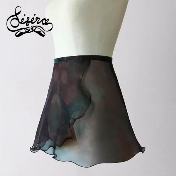 【 Sisira / シシラ 】花柄シフォン 巻きスカート ( ミッドナイトフローラル ) Midnight Florals Wrap Skirt シシラダンスウエア