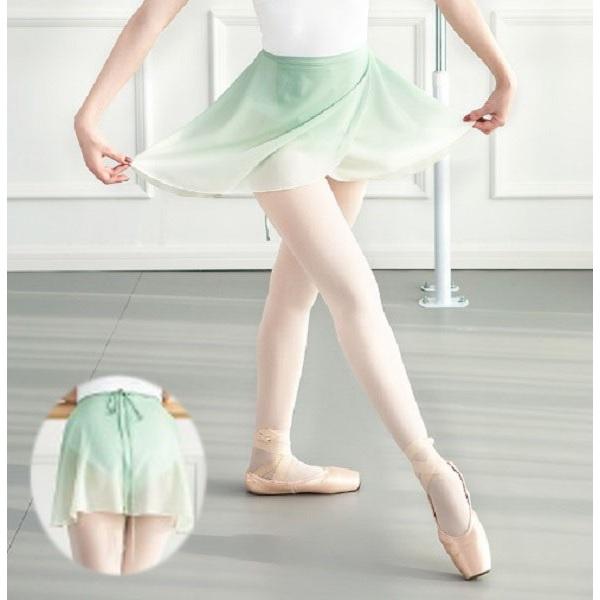 巻きスカート グラデーション スカート バレエ ミントグリーン