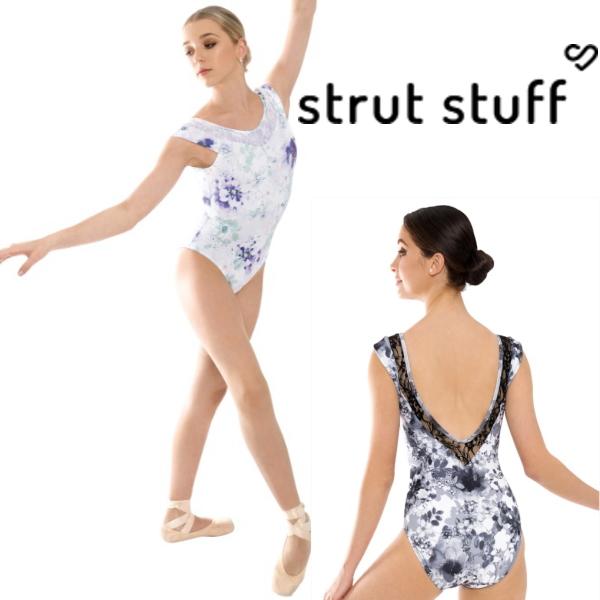 【strut stuff】バレエ  大人 ボートネック レオタード cynthia