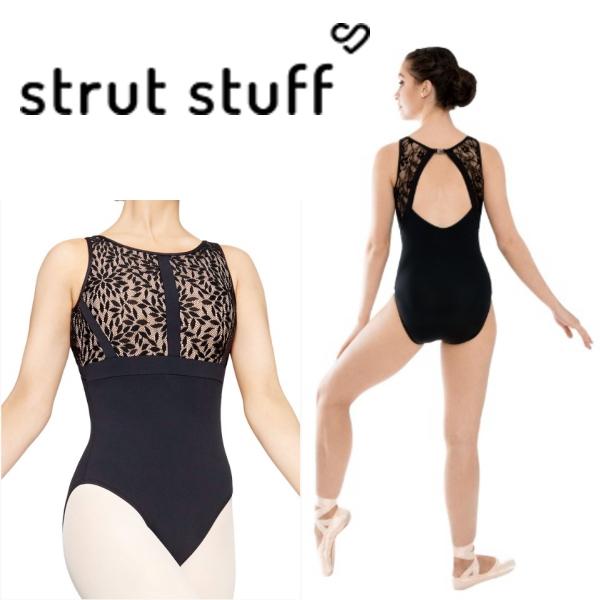【strut stuff】大人 バレエ レースタンクレオタード 本店限定