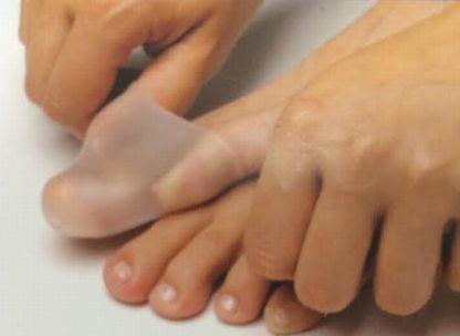 【バンヘッズ】バレエ、ダンスのケア用品。親指を守る半透明シリコン製パッド